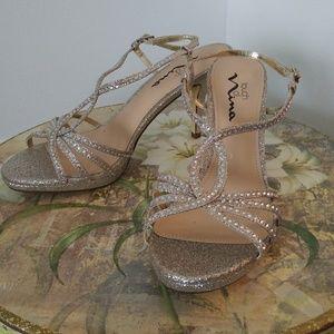 Light Gold sparkly sandals